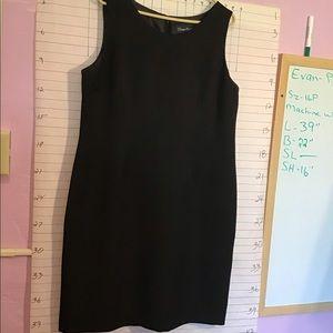 EVAN PICONE SUIT PETITE women's dress sz 16P black